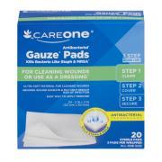 CareOne Antibacterial Gauze Pads