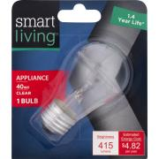 Smart Living 40w Appliance Bulb