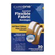 CareOne Assorted Antibacterial Flexible Bandages