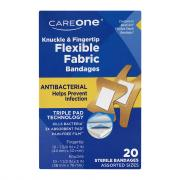 CareOne Antibacterial Flexible Knuckle & Fingertip Bandages