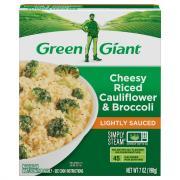 Green Giant Riced Veggies Simply Steam Cauliflower, Broccoli