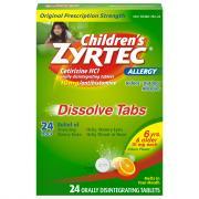 Zyrtek Children's Dissolve Tabs