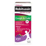 Robitussin Children's Grape Flavor Non Drowsy Cough & Cold