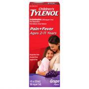 Children's Tylenol Grape Splash Flavor Liquid