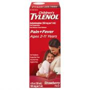 Childrens Tylenol Pain + Fever Strawberry Flavor