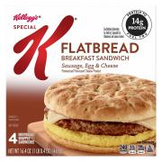 Special K Flatbread Breakfast Sandwich Sausage Egg & Cheese