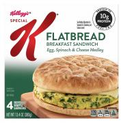Special K Flatbread Sandwich Egg, Spinach & Cheese Medley