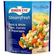 Birds Eye Steamfresh Gold White Corn Carrots and Asparagus