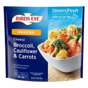 Birds Eye Steamfresh Cheesy Broccoli, Cauliflower & Carrots