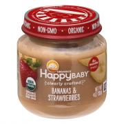 Happy Baby Stage 2 Baby Food Bananas & Strawberries