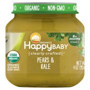 Happy Baby Stage 2 Jar Pears & Kale