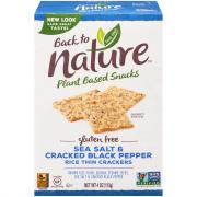 Back to Nature Gluten Free Sea Salt & Black Pepper Crackers