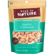 Back to Nature Sea Salt Roasted Jumbo Cashews