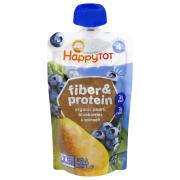 Happy Tot Organic Fiber and Protein Pear Blue Spinach Blend