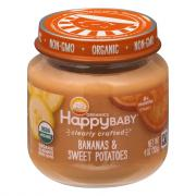 Happy Baby Stage 2 Baby Food Bananas & Sweet Potatoes