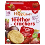 Happy Baby Organic Strawberry Beet Teethers Crackers
