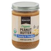 Woodstock Farms Organic Crunchy No Salt Peanut Butter