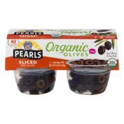 Pearls Organic Sliced Ripe Black Olives On The Go Cups