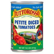 Tuttorosso No Salt Added Petite Diced Tomatoes