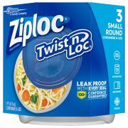 Ziploc Twist & Lock 2-Cup Containers