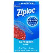 Ziploc Quart Freezer Bags Value Pack
