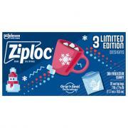 Ziploc Holiday Freezer Quart Bags