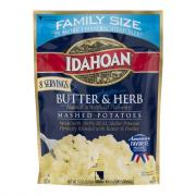 Idahoan Butter & Herb Mashed Potatoes Family Size
