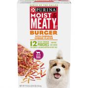 Purina Moist & Meaty Burger & Cheese Dog Food
