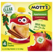 Mott's Cinnamon Applesauce Snack & Go Pouches