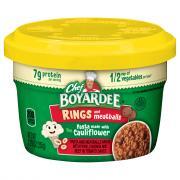 Chef Boyardee Veggie Rings With Tomato Sauce & Meatballs