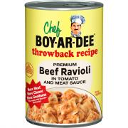 Chef Boyardee Throwback Recipe Beef Ravioli in Tomato and