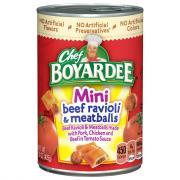Chef Boyardee Mini Bites Beef Ravioli Meatballs