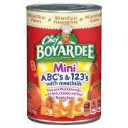 Chef Boyardee ABC's & 123's w/Meat Sauce
