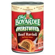 Chef Boyardee Overstuffed Beef Ravioli