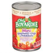 Chef Boyardee Spaghetti Rings w/ Meatballs