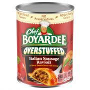 Chef Boyardee Overstuffed Sausage Ravioli