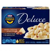 Kraft Deluxe White Cheddar Bacon Macaroni & Cheese Dinner