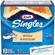 Kraft White American Cheese Singles