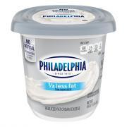 Philadelphia Cream Cheese Plain 1/3 Less Fat Tub