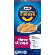 Kraft Premium Three Cheese Macaroni & Cheese