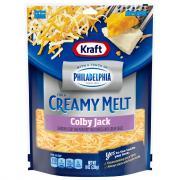 Kraft Creamy Melt Taste of Philadelphia Colby Jack Shredded