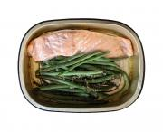 Grab n Go Salmon & Green Beans Meal with Garlic Butter