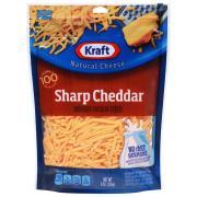 Kraft Yellow Sharp Shredded Cheese