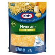 Kraft Mexican Four Cheese Shredded Cheese