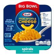 Kraft Macaroni & Cheese Spirals Big Bowl