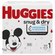 Huggies Snug & Dry Step 1 Giga Pack Diapers