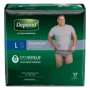 Depend Men's Large Maximum Absorbency Underwear