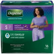 Depend Underwear Night Defense Women Small