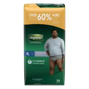 Depend Maximum Absorbency Men's Extra Large Underwear