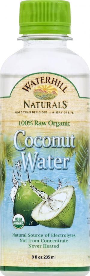 Waterhill Naturals 100% Raw Organic Coconut Water